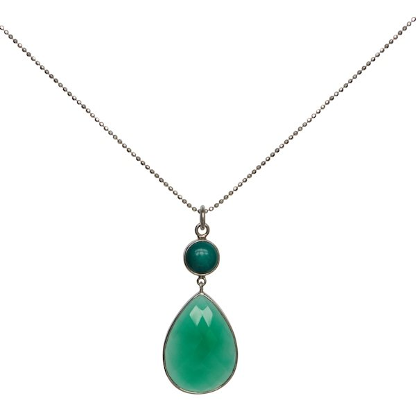 Elegant jade set in stirling silver