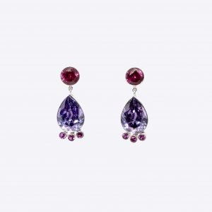 23-9166a-post-red-cz-pear-amy-cz-3-red-solid-drops